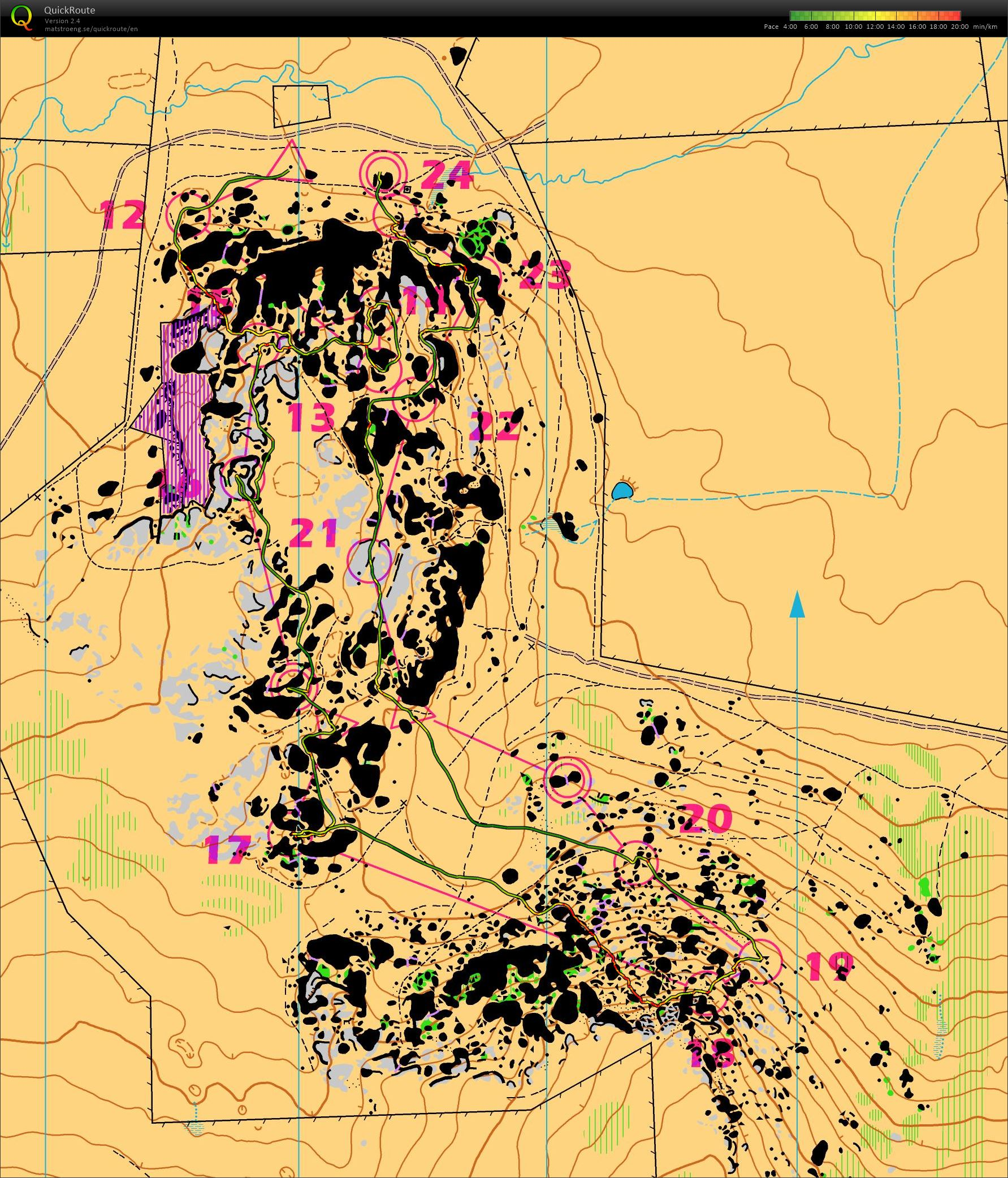 Mats Ogdns digital orienteering map archive Castle Hill 1212