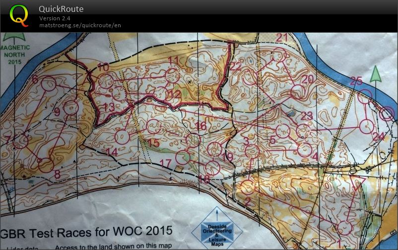 WOC Middle Test Race (28/07/2015)