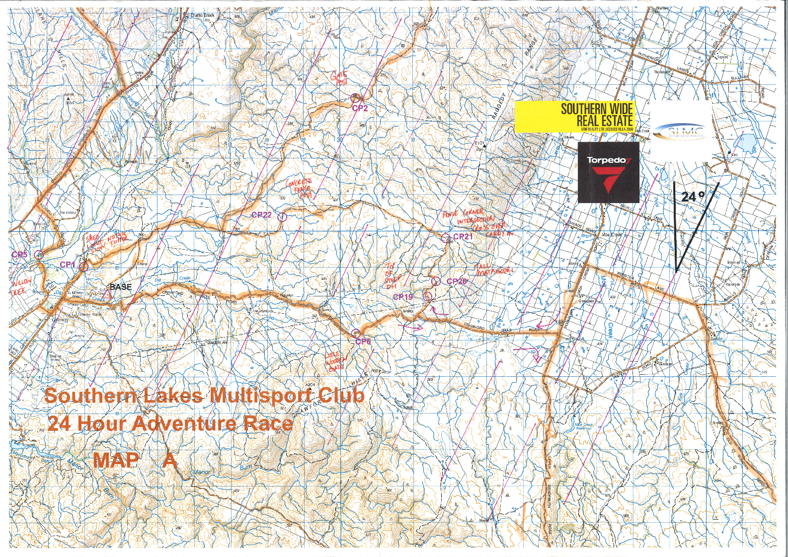 SLMC 24hr Adventure Race Map A (17/11/2017)