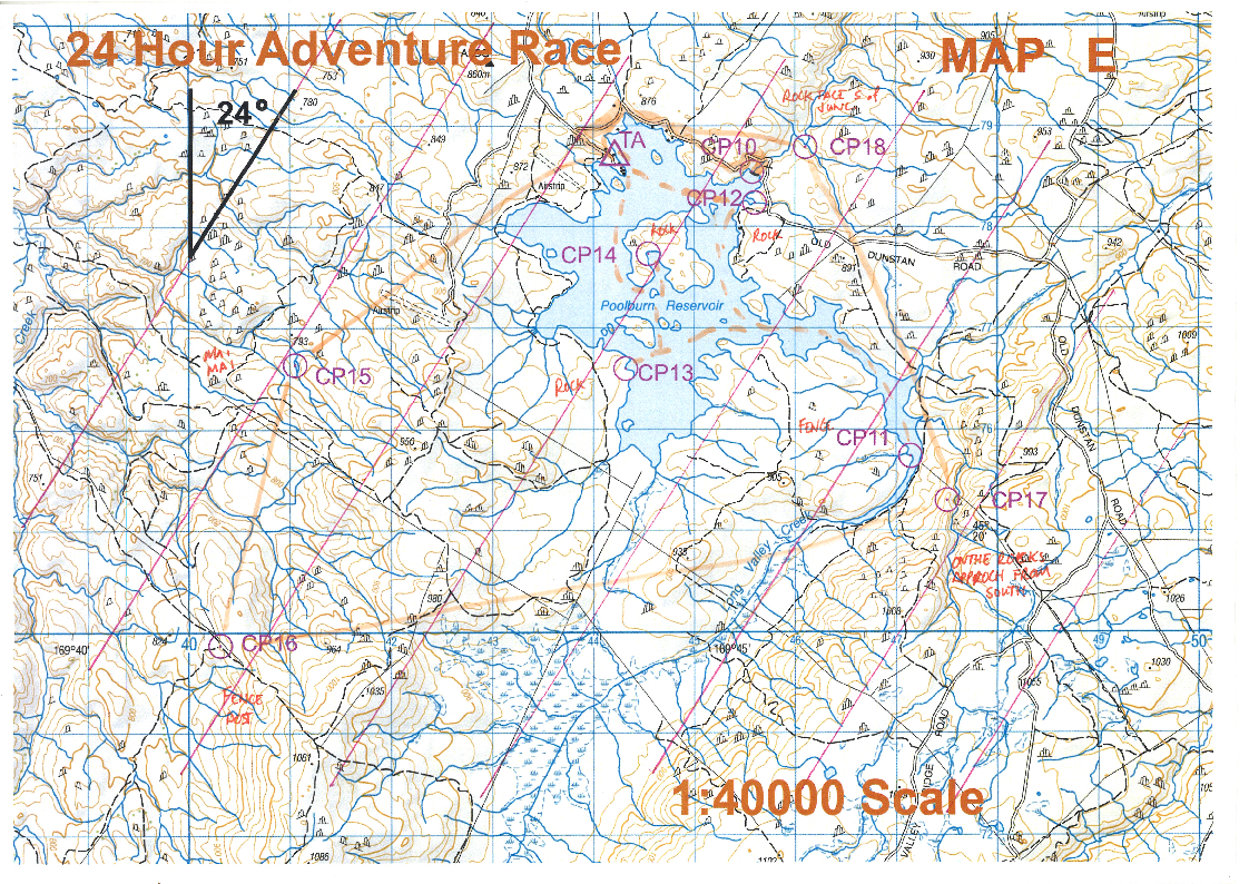 SLMC 24hr Adventure Race Map E (17/11/2017)