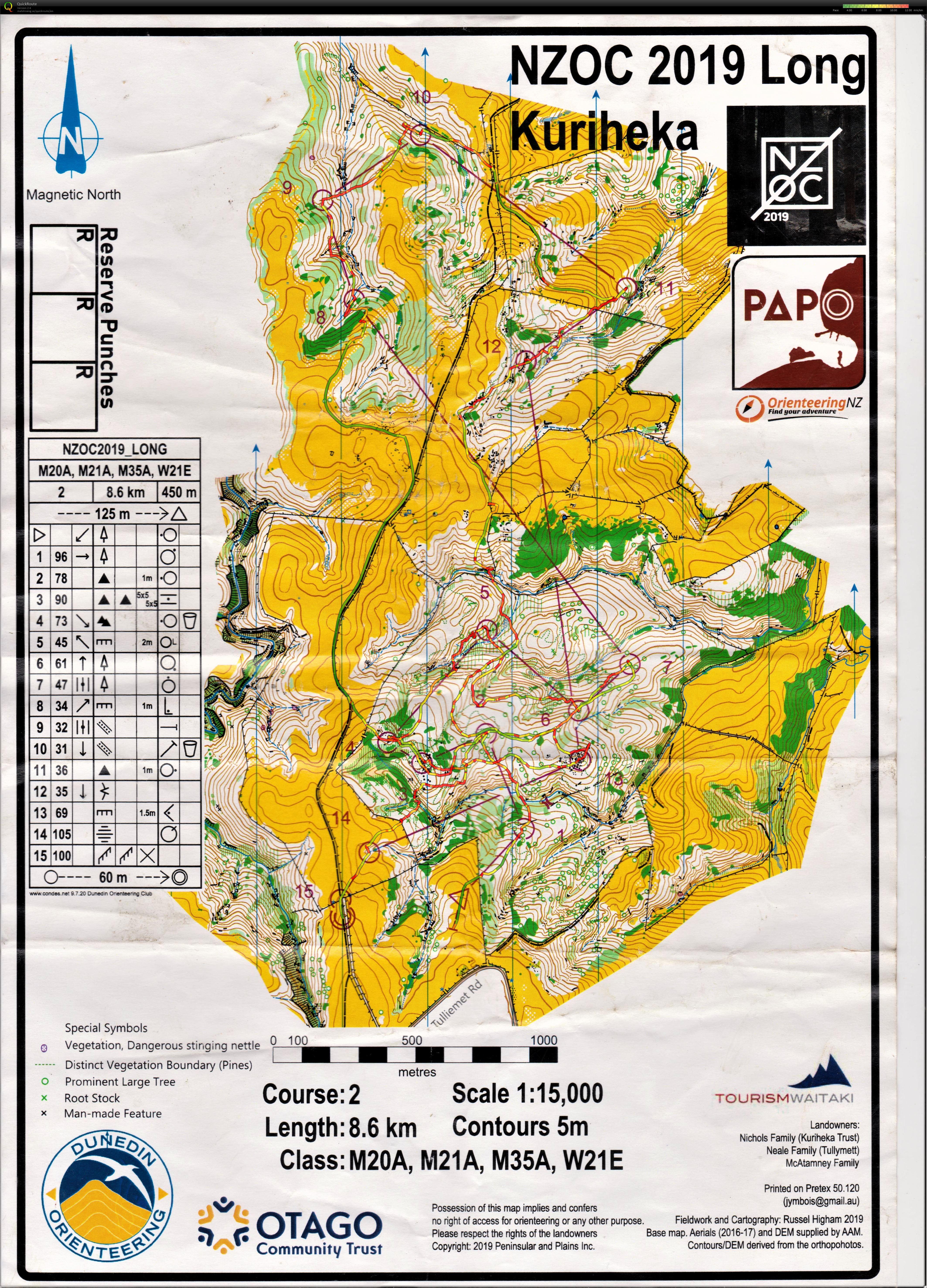 Thomas' digital orienteering map archive :: NZOC 2019 Long