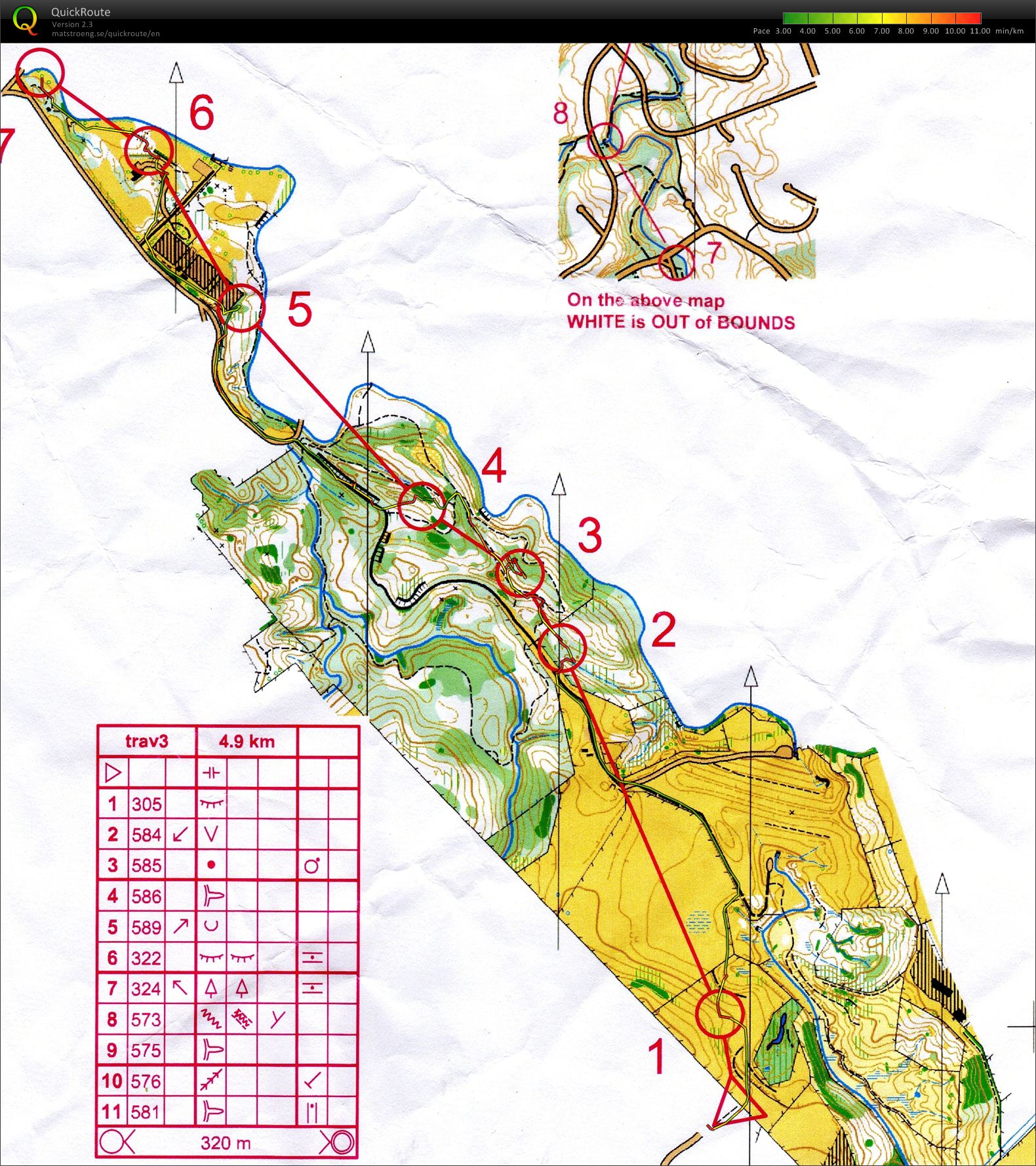 Turkey Traverse - Map 4 (30/12/2009)